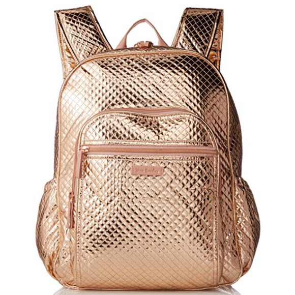 Vera Bradley iconic campus backpack rose gold 8ab95b151c915